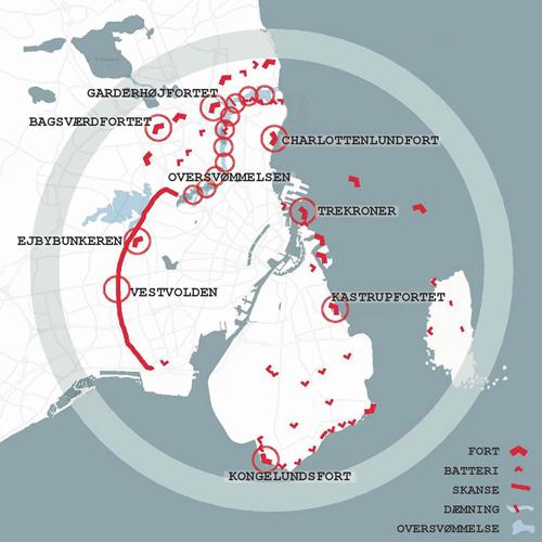 Kort over Københavns Befæstning